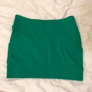 DVF Green Mini Skirt